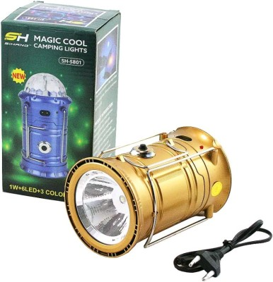 Any Time Buy 3 in 1 Rechargeable Solar Camping Lantern With Stage Light DJ Disco Light Emergency Lights(Multicolor)