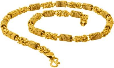 df5f66c861126 Voylla Dare by Voylla Men's Brass Chain Yellow Gold Plated Brass Chain