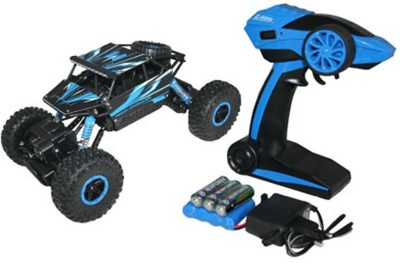 Dhawani Rock Crawler Rechargeable RC 4WD Rally Car 1:18 Scale 2.4GHz(Blue) at flipkart