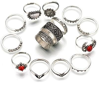 Shining Diva Stylish Party Wear 14 Pcs Midi Finger Rings Alloy Beads Ring Set at flipkart