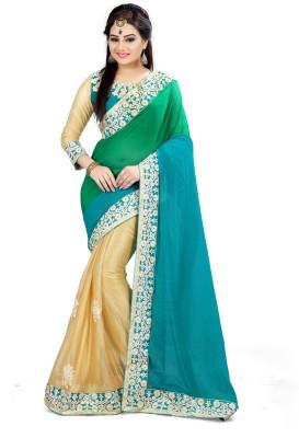 Sonu Creation Embroidered Bollywood Georgette, Lycra Saree(Multicolor) Flipkart