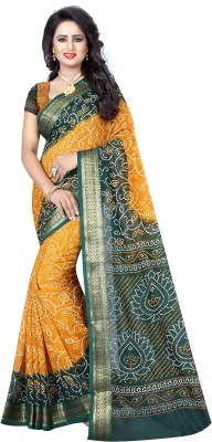 e08f9a2164842 50% OFF on Shree Sondarya Bandhani Hand Painted Bandhej Tussar Silk ...