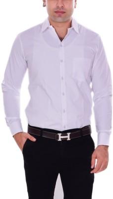 the rich clothing Men Solid Formal White Shirt at flipkart