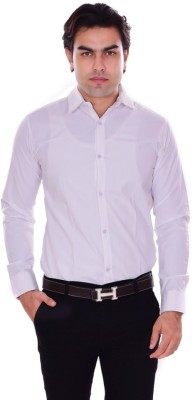 the rich clothing Men Solid Casual White Shirt at flipkart