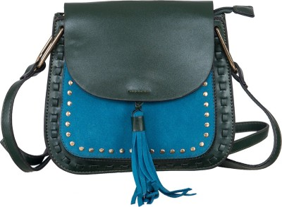 peaubella Green, Blue Sling Bag at flipkart