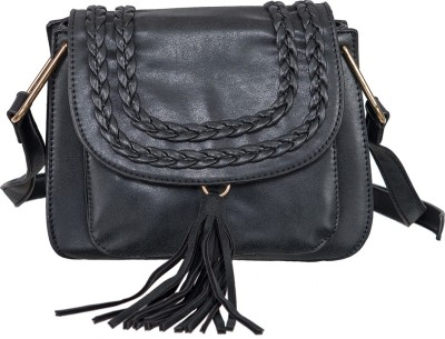 peaubella Black Sling Bag at flipkart