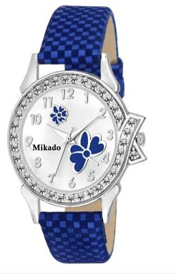 Mikado New princess blue butterfly casual analog watch for women and girls Analog Watch   For Women Mikado Wrist Watches