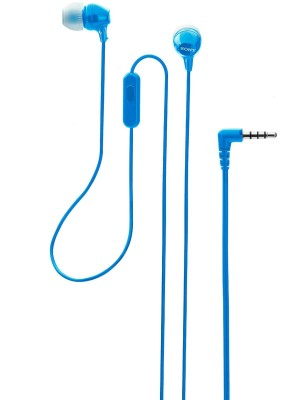 Sony EX14AP Wired Headset(Blue, Wired in the ear)