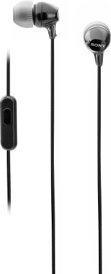 Sony MDR-EX14AP Headset with Mic(Black, In the Ear)