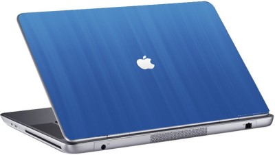 Gallery 83 white apple in blue background Laptop Sticker 15.6 inch Vinyl Laptop Decal 15.6