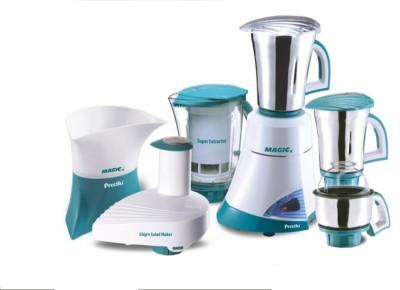 Preethi MEGA MAGIC with 4Jars & CHIP N SALAD MAKER 600 Mixer Grinder(Green, 4 Jars)  available at flipkart for Rs.7594