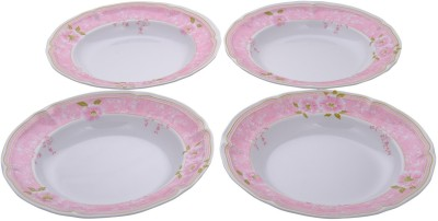 Ektra Melamine Plates, Set of 4, Pink Small Plates(Pack of 4) at flipkart
