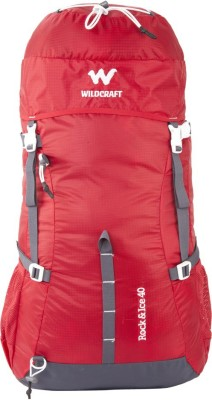 Wildcraft Rock & Ice Rucksack  - 40 L(Red) at flipkart