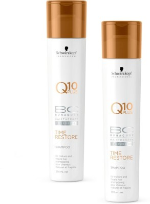 Schwarzkopf BC Time Restore Q10 Plus Shampoo - For Mature and Fragile Hair (New Packaging)(500 ml)