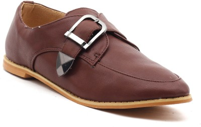 Shuberry Monk Strap Shoes For Women(Brown)