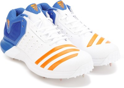 68bfb9edc44 25% OFF on Adidas ADIPOWER VECTOR MID Cricket Shoes For Men(White) on  Flipkart