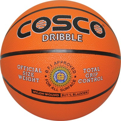 Cosco Dribble Basketball -   Size: 5(Pack of 1, Multicolor)