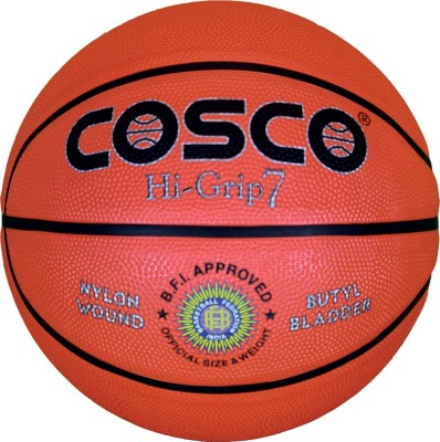 Cosco Hi-Grip Basketball -   Size: 7(Pack of 1, Multicolor)