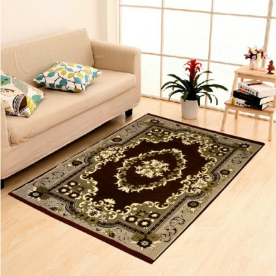 HOME SHOP Multicolor Chenille Carpet(155 cm  X 215 cm) at flipkart