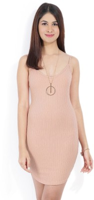 Forever 21 Women Sheath Pink Dress