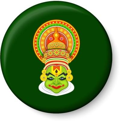 Peacockride Kathakali Fridge Magnet Pack of 1 Multicolor