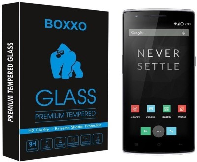 Boxxo Tempered Glass Guard for OnePlus One(Pack of 1)