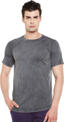Gritstones Self Design Men Round Neck Black T-Shirt at flipkart