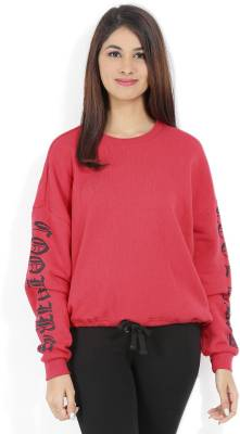 Forever 21 Casual Full Sleeve Solid Women Red Top