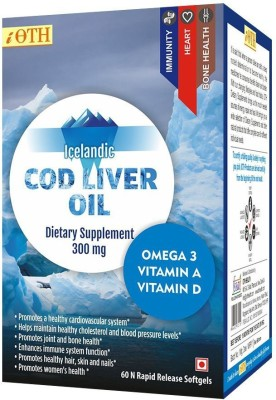 iOTH iOTH Cod Liver Oil 100% Wild Arctic Cod(60 No)  available at flipkart for Rs.572