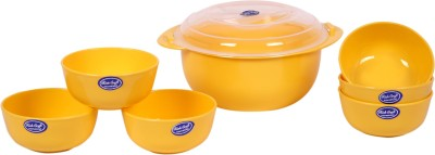 Rich Craft International Full Time 8 pcs Serving set Plastic Serving Bowl Yellow, Pack of 8 Rich Craft International Bowls