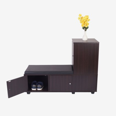 Eros Engineered Wood Free Standing Cabinet(Finish Color - Wenge, Door Type- Hinged)