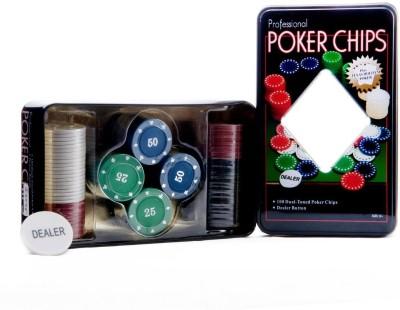 Skywalk Professional 100 Chips Poker Set(Multicolor)  available at flipkart for Rs.429