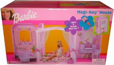 Mattel Barbie Magi-Key House Lights & Sounds, Birds, Music Box Sound(Multicolor)
