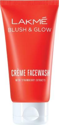 Lakme Strawberry Creme Face Wash, 100g