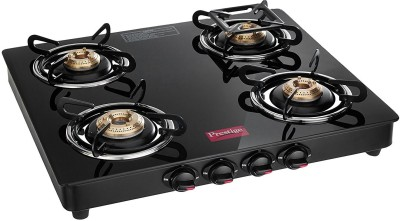 Prestige Marvel Glass, Stainless Steel Manual Gas Stove(4 Burners)