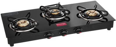Prestige Marvel Glass, Stainless Steel Manual Gas Stove(3 Burners)
