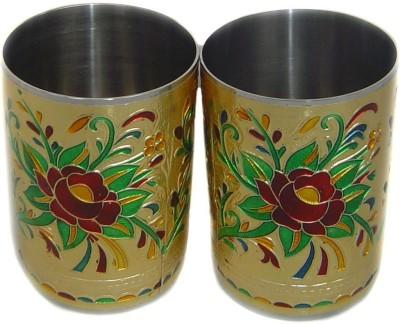 Rastogi Handicrafts  Pack of 2  p 100029 Glass Set 250 ml, Steel Rastogi Handicrafts Glasses