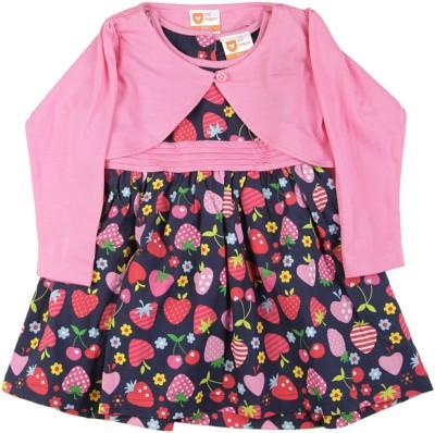 edfad256092f 50% OFF on 612 League Girls Midi/Knee Length Casual Dress(Blue, Full  Sleeve) on Flipkart | PaisaWapas.com