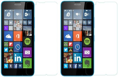 Cowboy Tempered Glass Guard for Nokia Lumia 640 duaL sim(Pack of 2)