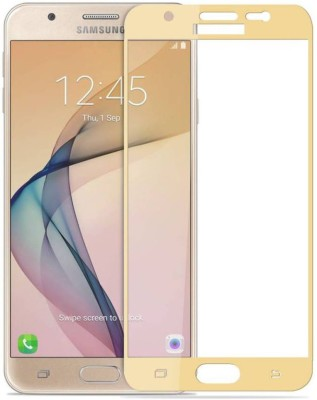 PAV Tempered Glass Guard for Samsung Galaxy J5 Prime Full Screen Coverage - Gold Colour(Pack of 1)