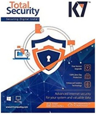 K7 Total Secuirty 2017 1 Pc 1Year New Slim Pack offer