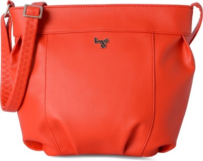 Baggit Women Casual Orange Leatherette Sling Bag