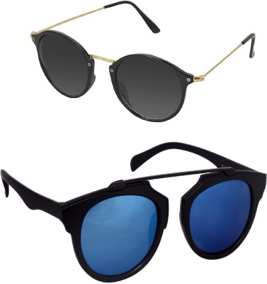 Vars Aviator Sunglasses(Black, Blue)