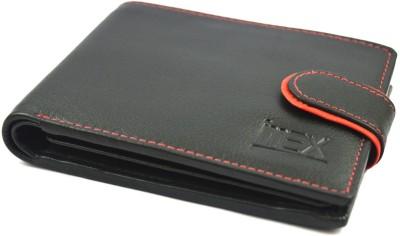Imex International Men Black Genuine Leather Wallet 8 Card Slots