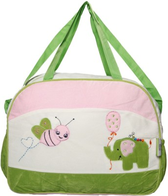 VLS Lifestyle Desinger Velvet Mother Bag  Bee   Elephent  Pink VLS Lifestyle Diaper Bags