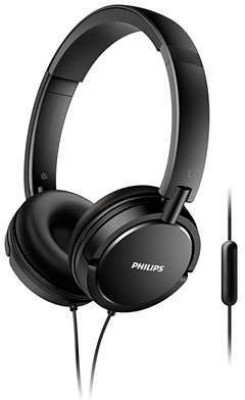 Philips SHE1405BK Wired Headset Wired Headset with Mic(Black, In the Ear)