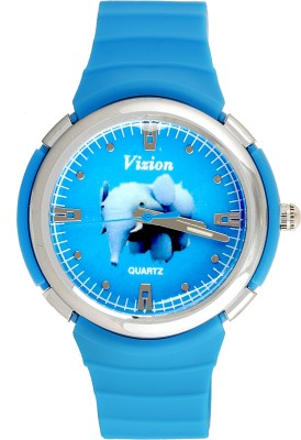 Vizion 8828-8-2 Jumbo-The Blue Elephant Cartoon Character Analog Watch  - For Boys & Girls