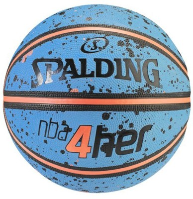 SPALDING 4Her Splash Basketball -   Size: 6(Pack of 1, Sky Blue, Peach)