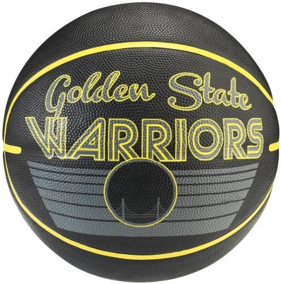 SPALDING Golden State Warriors Basketball -   Size: 7(Pack of 1, Black, Gold)
