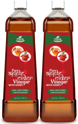 simply nutra Apple Cider Vinegar With Honey – Natural, Raw, Unfiltered, Unflavored For Weight Loss Energy Drink(1000 ml, Pack of 2)